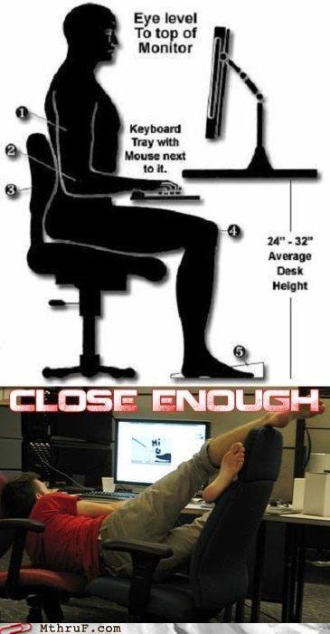job fails - Workplace ErgonomicsComputers, Laugh, Offices Humor, Chairs, Funny Pictures, Desks, Nails It, Funny Stuff, True Stories