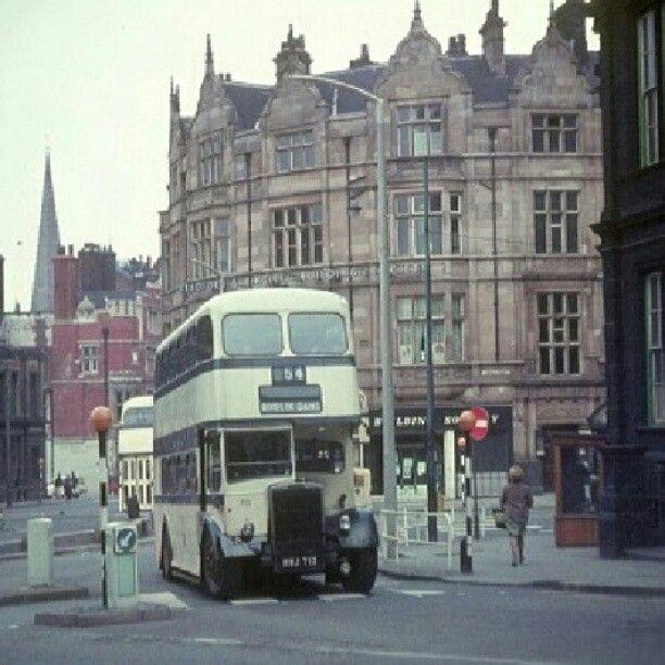 1968 bus turns onto west street sheffield #socialsheffield #sheffield