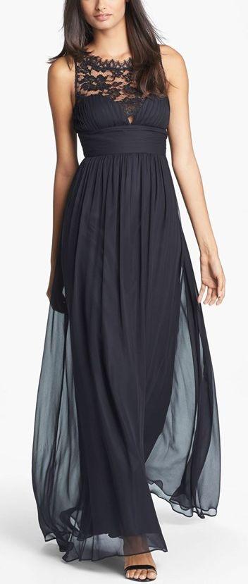 Silk Chiffon gown by Aidan Mattox http://www.theperfectpaletteshop.com/#!bridesmaid-dresses/c1oc8