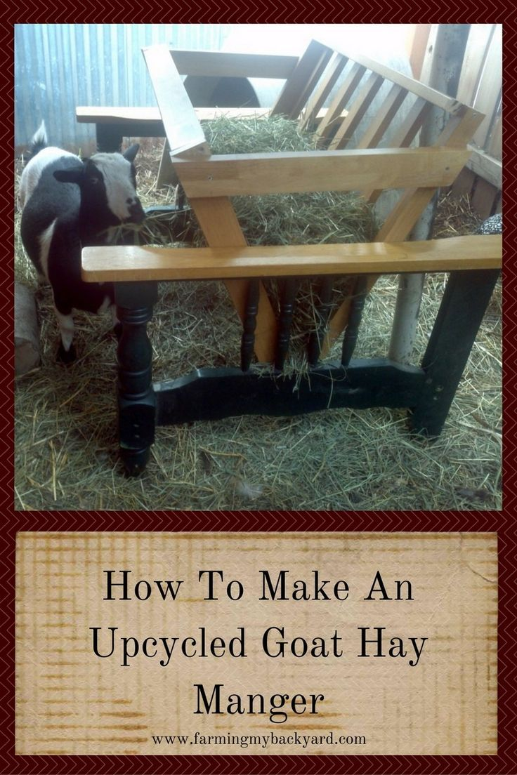 How To Make An Upcycled Goat Hay Manger Futon Frame Goats And Farming