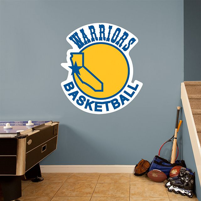 Golden State Warriors Classic Logo REAL.BIG. Fathead – Peel & Stick Wall Decal | Golden State Warriors Wall Decal | Sports Home Decor