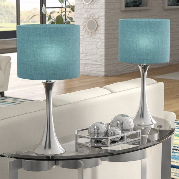 Imelde 24 Table Lamp Set Table Lamp Sets Table Lamp Turquoise Table Lamp