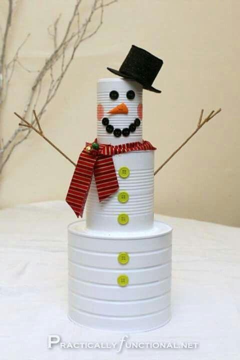 Boneco de neve lata