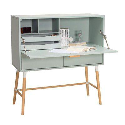 Arod Working Desk - White Grey
