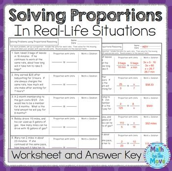 This worksheet has five real-world problems that can be solved by setting up a proportion.  A section is provided for students to set up the proportion and to show their work.An answer key is included.Other notes and activities involving proportional reasoning (for 7th grade):Computing Unit Rates with Fractions - Notes and PracticeComputing Unit Rates with Fractions - Task Card ActivityProportional Relationships - Interactive Notes and WorksheetsPercent Applications - Interactive Notes and…