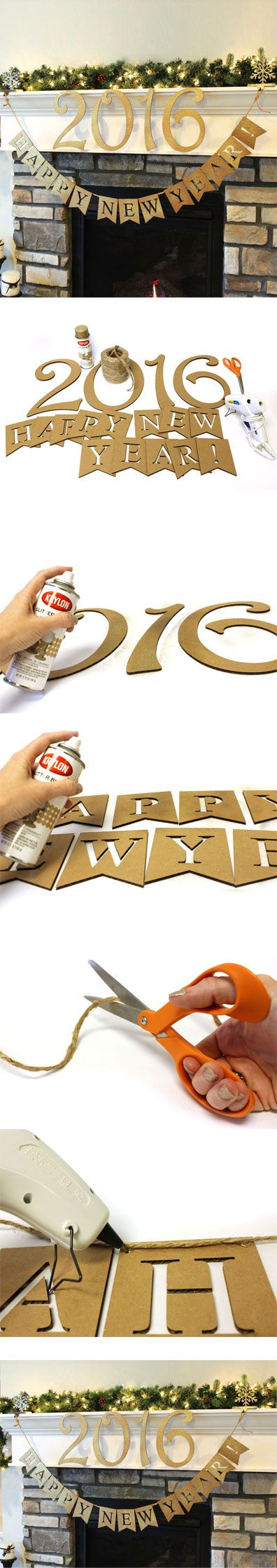 Create a Glittered New Year's Banner and Decorative Numbers | New Year's Letter & Number Kit | CraftCuts.com