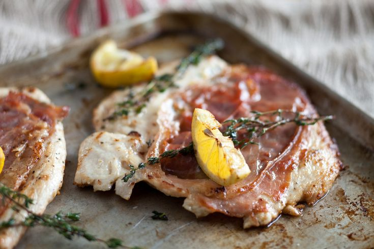 Check out Crispy Herbed Chicken with Prosciutto. It's so ...