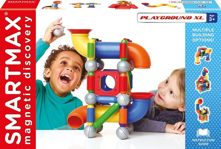 The Smartmax Playground XL Magnetic Building Set offers huge fun for children. With Smartmax even kids as young as one year old can explore magnetism sa...