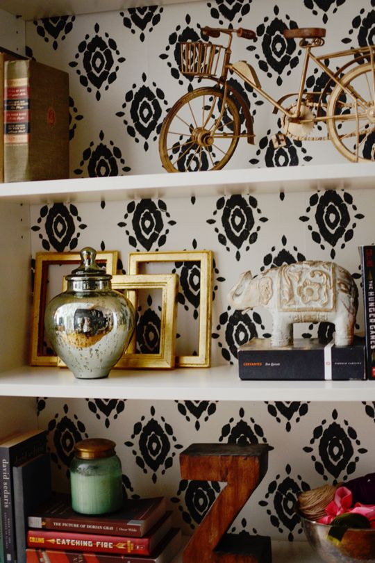 1000 ideas about wallpaper bookshelf on pinterest diy wallpaper