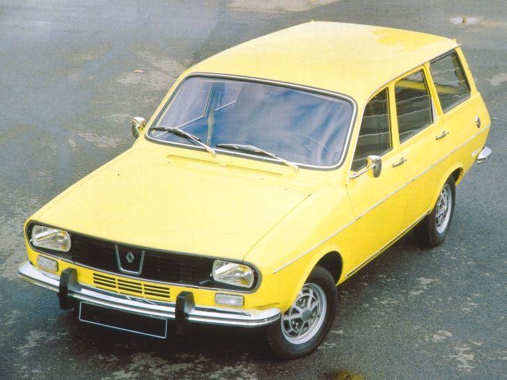 Renault 12, el coche que tenía mi padre, pero en color verde kaki...