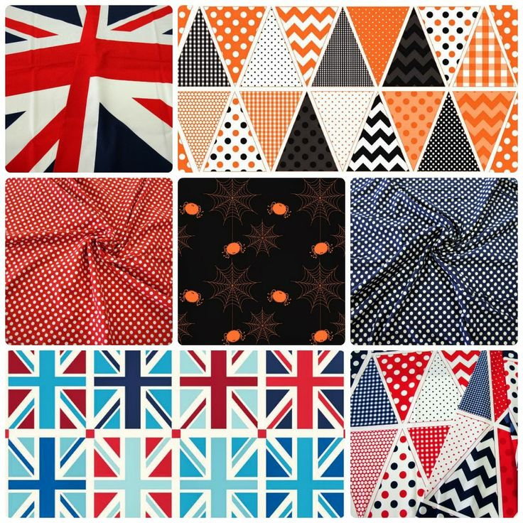 New in Store - January 26 Riley Blake Bunting and Union Jack Panels, Polka Dot Jersey Knit