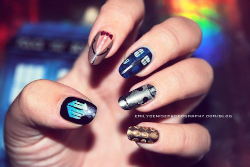 tiffany jewelers She has a TARDIS on her nails