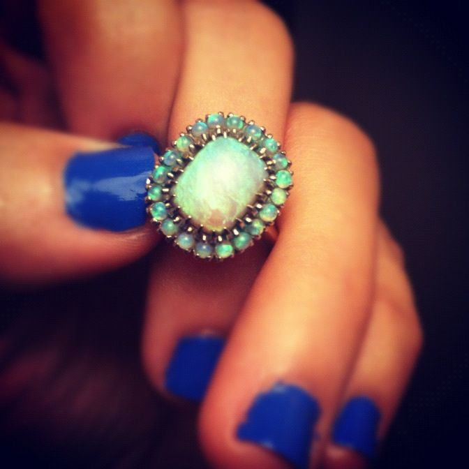Turquoise opal vintage ring// i'd love for my engagement ring to look like this