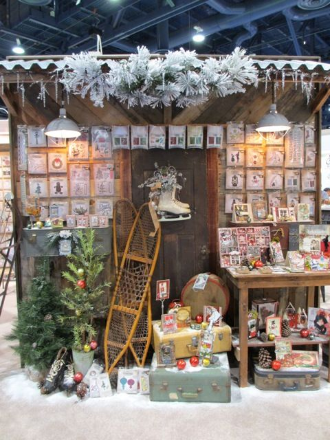 Awesome Christmas Craft Booth Ideas Part - 8: One Lucky Day: Sizzix Booth