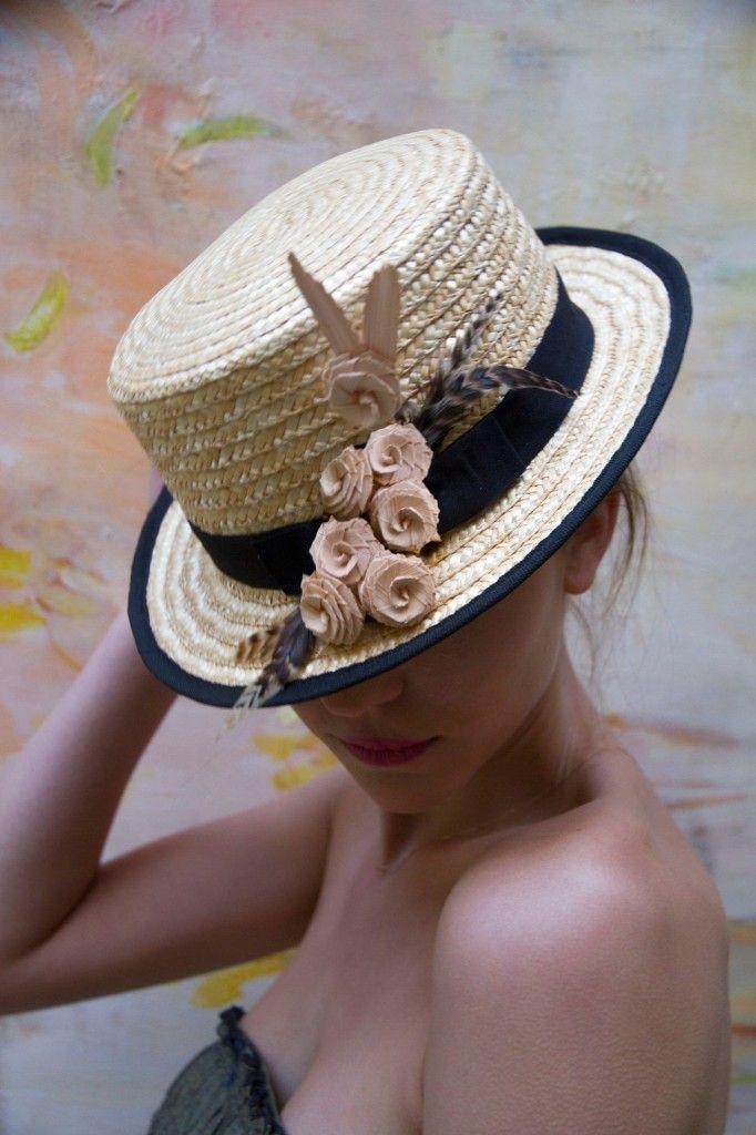 Lets go to the Beach Coco Nucifera Straw Skimmer Sailor Hat  b7c65b6e5