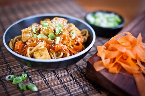 Sladkopálivé tofu doplňte oblíbenou zeleninou a rýží nebo nudlemi; Greta Blumajerová