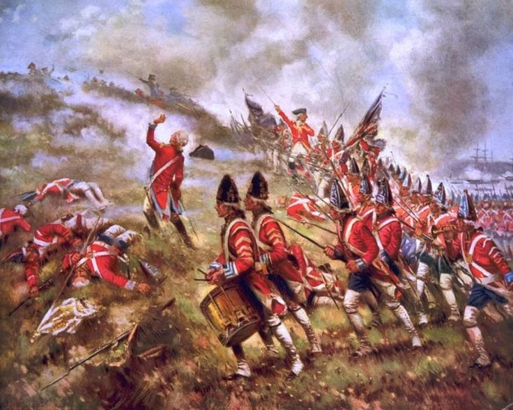 BATTLE OF BUNKER HILL BRITISH MARCH UP OIL PAINTING ART REAL CANVAS GICLEEPRINT #Realism