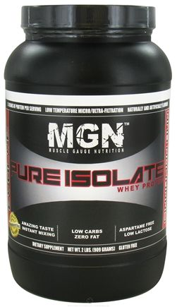 Buy Muscle Gauge Nutrition - Pure Isolate Whey Protein Cinnamon Bun - 2 lbs. at LuckyVitamin.com