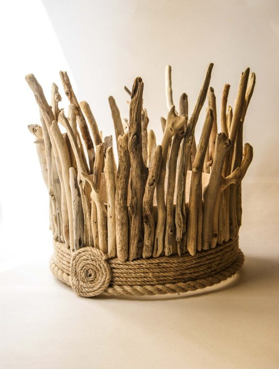 Driftwood Hanging Light Chandelier / Table Lamp by MarzaShop, $140.00 (I would wear this as a hat)