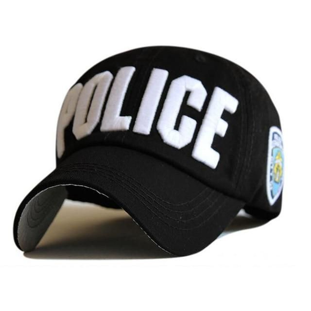 2ffbc2a04 High Quality Police Cap Unisex Hat Baseball Cap Men Snapback Caps ...