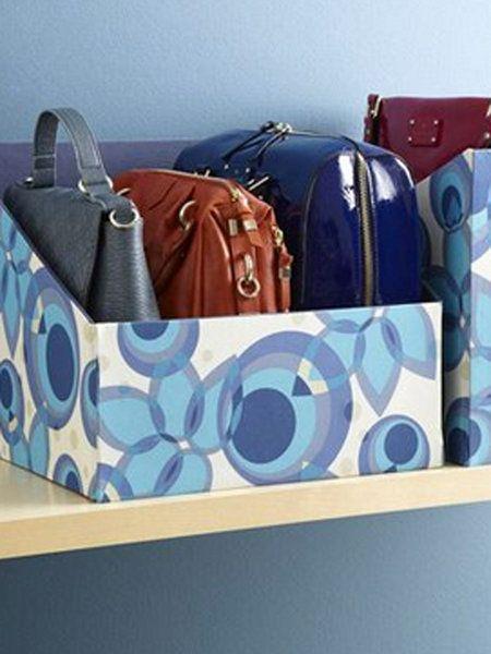 17 mejores ideas sobre cajas forradas en pinterest - Donde guardar los bolsos ...