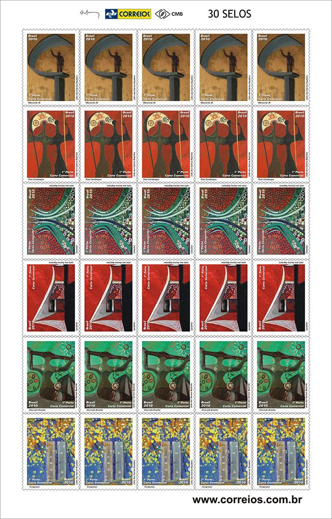 ECT Brazilian Postal Company Stamps Collection   J  lia dos Santos Baptista
