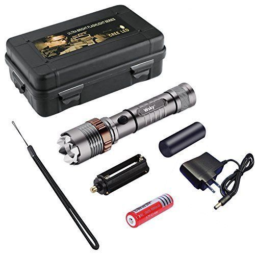 Tactical Police Flashlight 1000 Lumen Camping Self Defense Case Gift Zoomable  #TacticalPoliceFlashlight