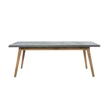 Der Esstisch Silas Zeichnet Sich Durch Seine Strukturierte Tischplatte In  Beton Optik Aus. Hochwertig Verarbeitet, Zeitloses Design, Tischplatte In  ...