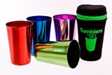 Stainless steel coloured tumblers - retro style coloured tumblers