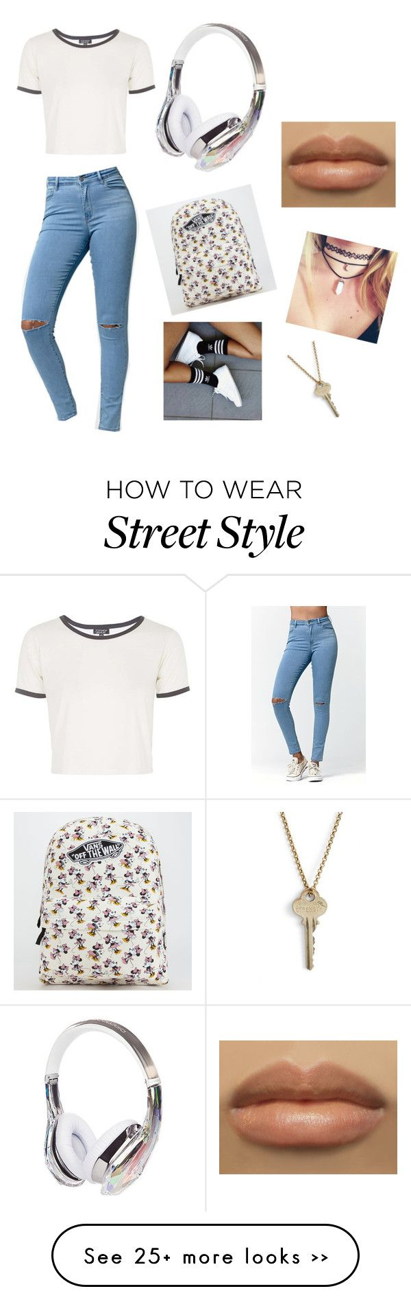 """""""Street style"""" by heartslove-791 on Polyvore featuring Topshop, Bullhead Denim Co., adidas, Vans and The Giving Keys"""