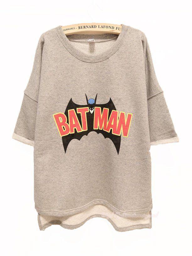 Buy Batman Free Style Cutton Hoodie/Tshirt For Women on Shoply.