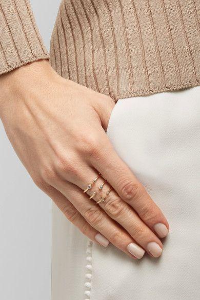 Andrea Fohrman   Triple Star 18-Karat Gold Diamond Ring