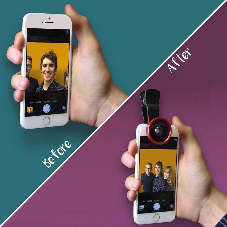 Selfie groothoeklens voor smartphone