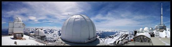 Panorama Pic coupole T1m Pic du Midi  Observatoire Midi-Pyrénées