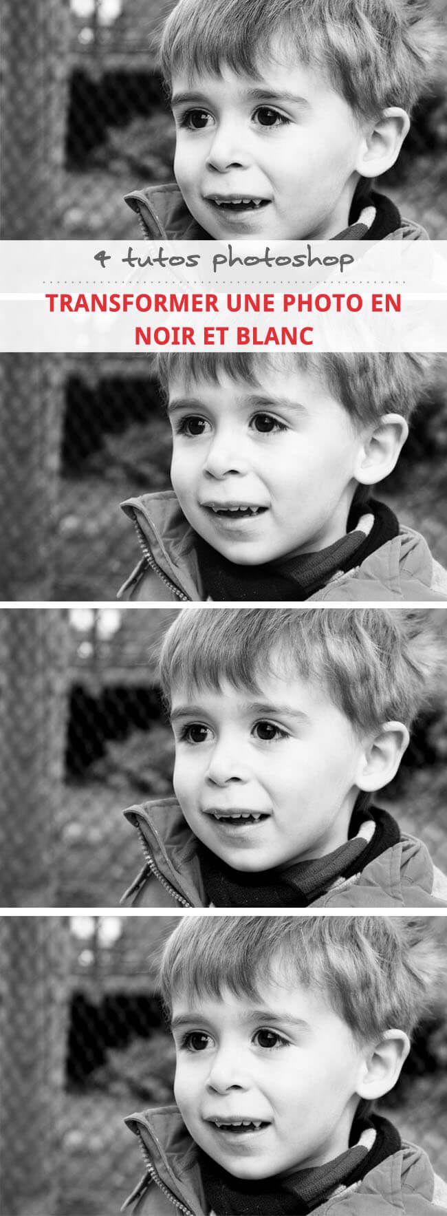 Découvrez 4 tutoriels pour transformer facilement vos photos couleurs en noir et blanc avec photoshop.