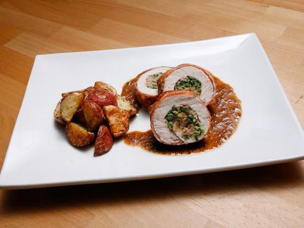 Pork Roulade with Roasted Red Potatoes