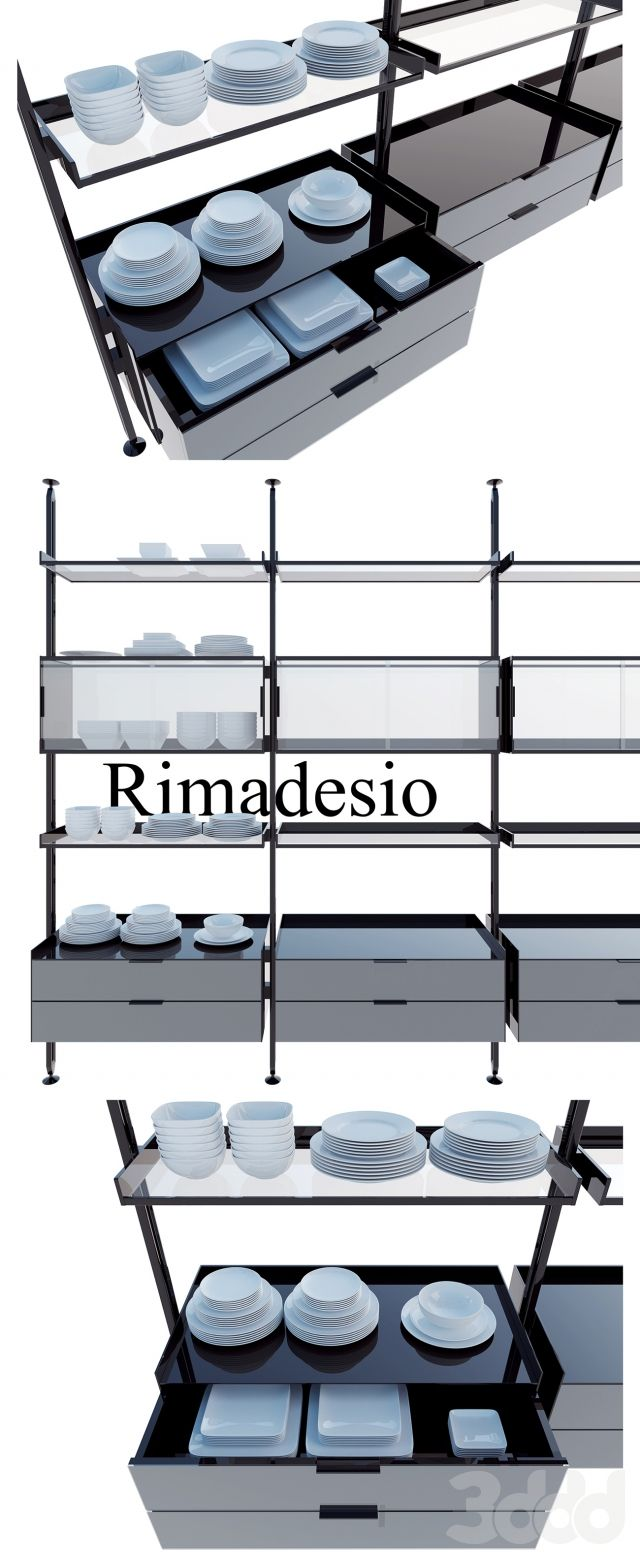 Rimadesio zenit system 01 living-rooms and walk-in closets, Kitchen, Wardrobe Display cabinets and storage,