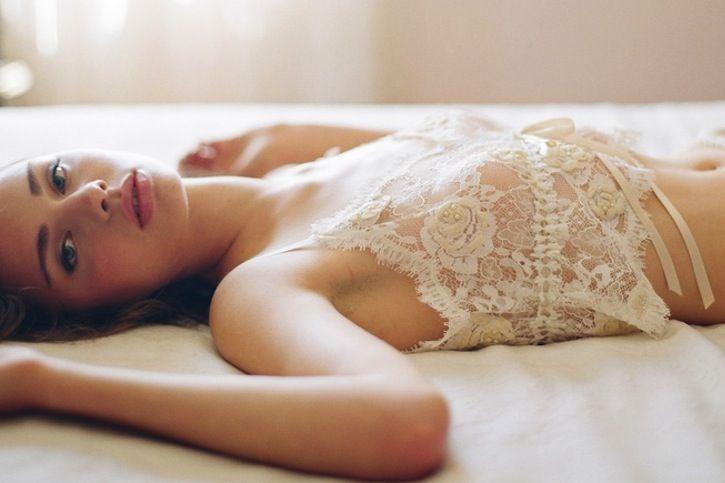 romantic bridal boudoir wedding lingerie lace