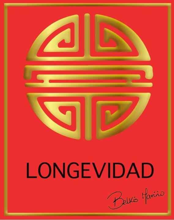 LONGEVIDAD es el del amuleto supremo según los chinos. Crea energía para la salud y larga vida con una muerte natural. Este símbolo protege contra accidentes, asesinatos, robos, terrorismo.