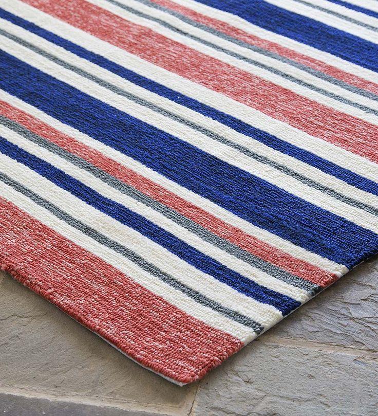 Coral Stripe Indoor/Outdoor Rug | Outdoor Rugs, Patio Rugs, Porch Rugs,