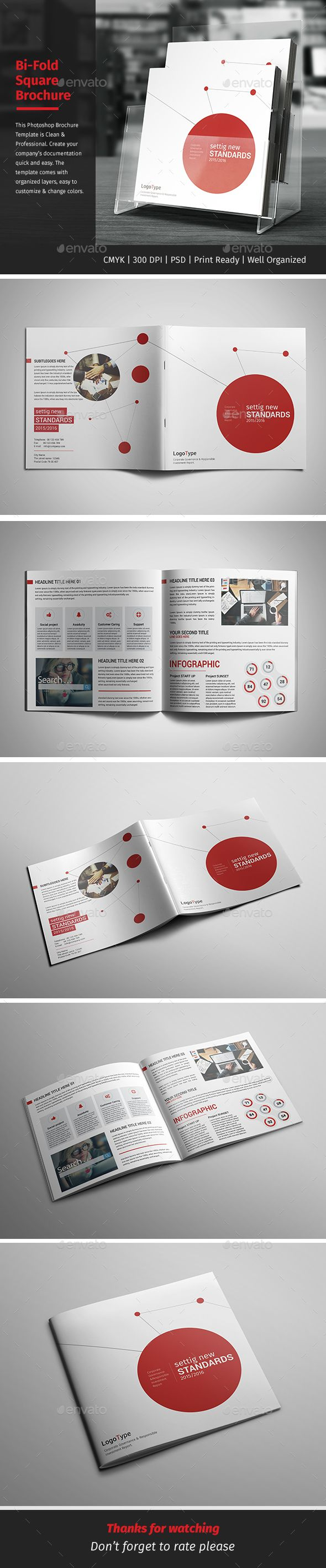 Corporate Bi-fold Square Brochure 04