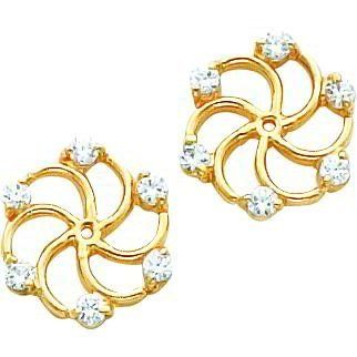 14K Gold Moissanite Earring Jackets FindingKing. $289.99