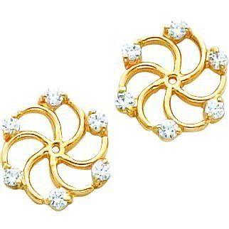14K Gold Moissanite Earring Jackets FindingKing. $289.99