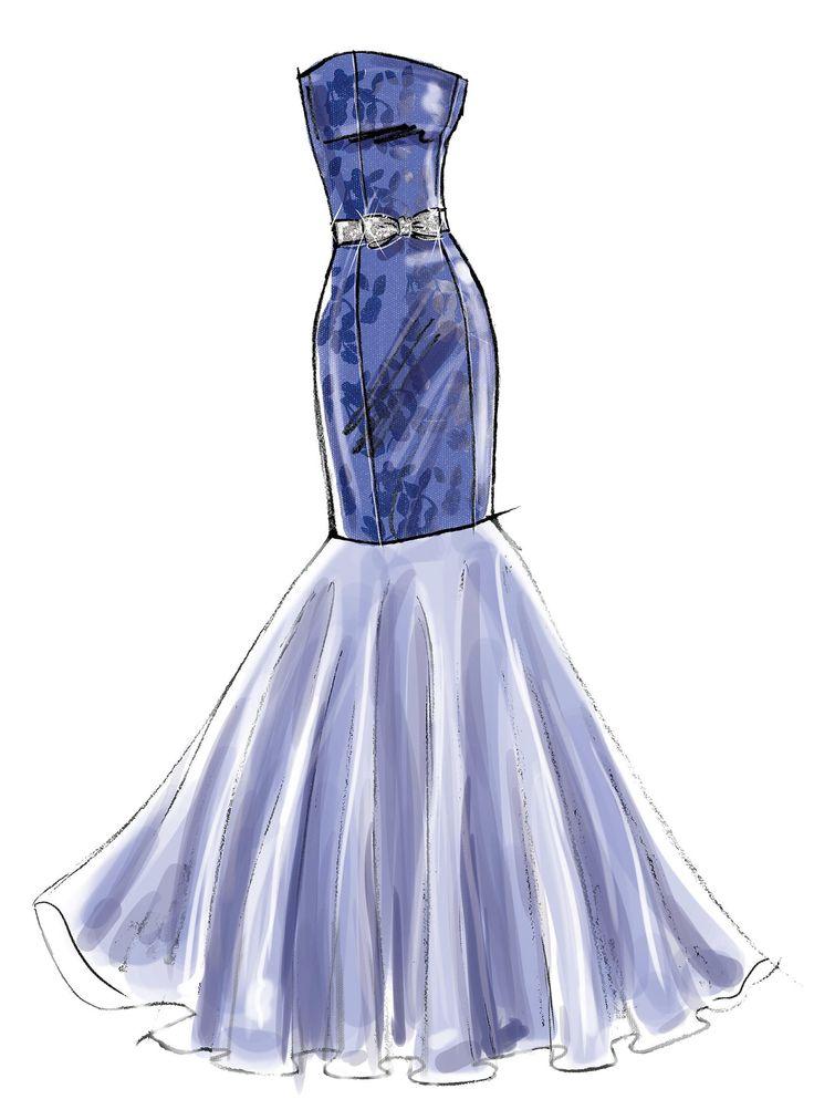 Платье рисунки картинки