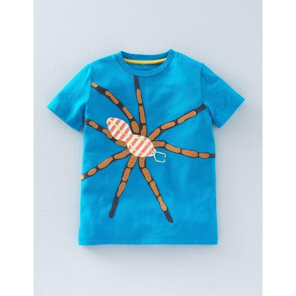 Boden T-Shirt mit großer Applikation Blau Jungen Boden