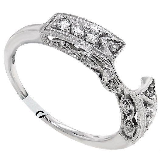ct Ladies Wrap ring DIAMOND Enhancer Band 14KTWGOLD