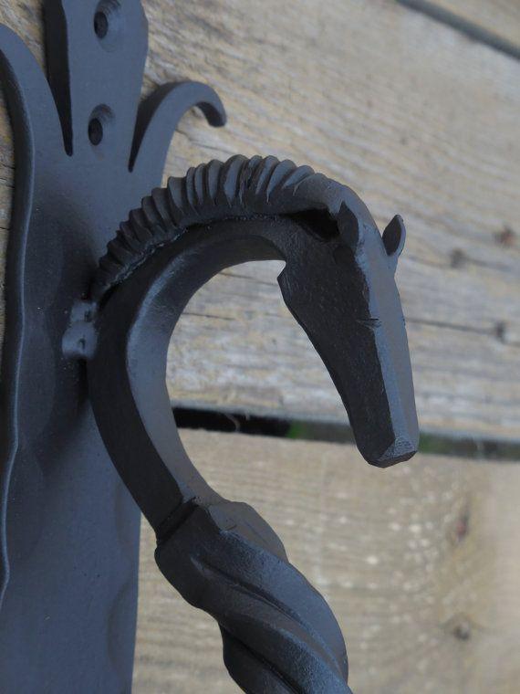 Hand Forged Door Pull Horseu0027s Head (medium), Blacksmith Made, Wrought Iron,