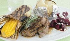 BBQ lamb rump steaks