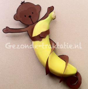 Banaan aapje via gezonde traktatie - Banana Monkey #tutorial