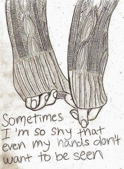 So shy my hands hide